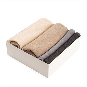 [Set of 4] [Exclusive box] Organic Towel / 4 colors set / Bath Towel ×2 / Hand Towel ×2 / SyuRo