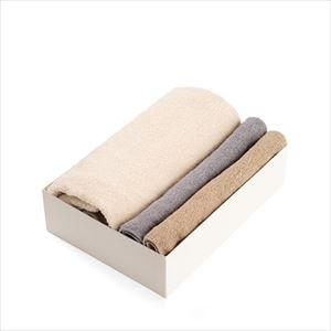 [Set of 3] [Exclusive box] Organic Towel / Natural 3 colors set / Bath Towel ×1 / Hand Towel ×2 / SyuRo