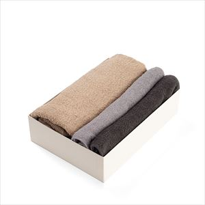 [Set of 3] [Exclusive box] Organic Towel / Neutral 3 colors set / Bath Towel ×1 / Hand Towel ×2 / SyuRo