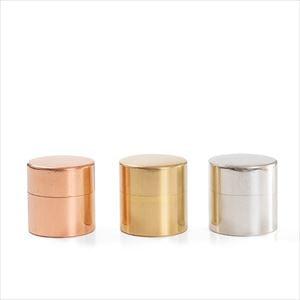 【セット】丸缶(小) 3色セット  銅&真鍮&ブリキ 化粧箱入/SyuRo