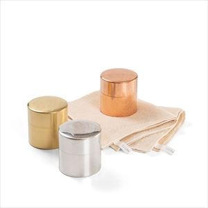 【セット】素材の色が好きな大人のための 丸缶3色とタオルのセット 化粧箱入/SyuRo