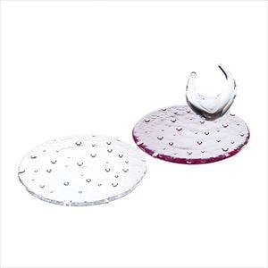 【セット】droplet 15cm 紅白ペアプレートと リングスタンド 化粧箱入/お皿/Sghrスガハラ