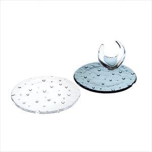 【セット】droplet 15cm 青白ペアプレートと リングスタンド 化粧箱入/お皿/Sghrスガハラ