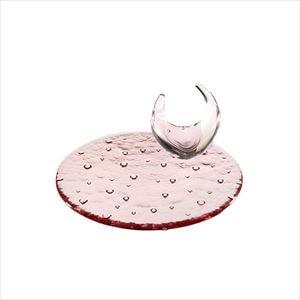 【セット】droplet 18cmのアクセサリートレイセット バイオレット 化粧箱入/お皿/Sghrスガハラ