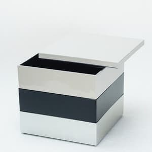 [Set] Jubako box / Greige + Jet Black + Silver / 6.5 sun / With Partition cup + Ume Mizuhiki band
