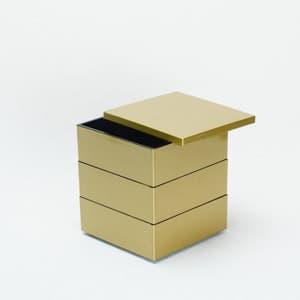 【セット】4.5寸三段重 金煌(仕切り&梅水引バンド付き)