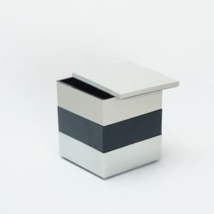 [Set] Jubako box / Greige + Jet Black + Silver / 4.5 sun / With Partition cup + Ume Mizuhiki band