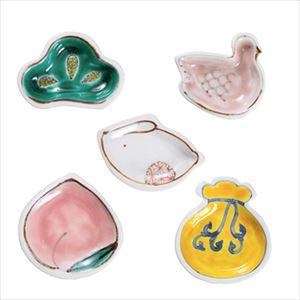 [Set of 5] [Exclusive box] Cute Animals mamezara set / Tenohira Engi / Kutani ware / Soukyu porcelain