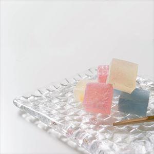 【セット】grid plate クリアー 4人で囲む食卓の角皿セット 化粧箱入/プレート/Sghrスガハラ_Image_2