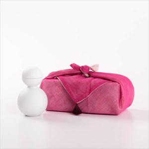 【セット】酒器だるま ビスク(艶なし) ピンクの布巾包/酒器/ceramic japan