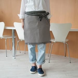 【SALE】Maekake / Japanese waist apron / Gray / Short / Anything $51.99→$25.99 [Over-stock sale]