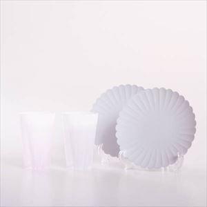 【セット】桜と菊の華やかなくつろぎセット 化粧箱入/タンブラーとプレートのペア