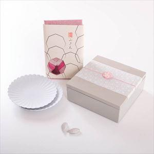 【玉手箱セット】お花見お食事ペア 一段重(大) ピンクの布巾包_Image_1
