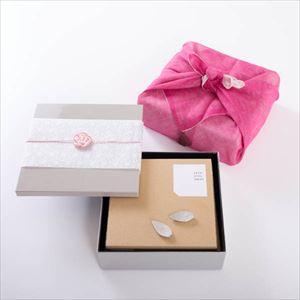【玉手箱セット】お花見お食事ペア 一段重(大) ピンクの布巾包_Image_3