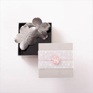 【玉手箱セット】錫桜のトレーペア 一段重(小)