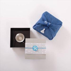【玉手箱セット】一人で粋に錫の晩酌 ミニ 一段重(小) 青のはんかち包