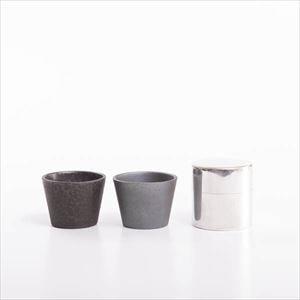 【セット】お茶を楽しむ 丸缶とペアカップのセット 化粧箱入/SyuRo