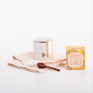 【セット】午後のほがらかな日差しが似合う 丸缶と柚子ティーのセット 化粧箱入