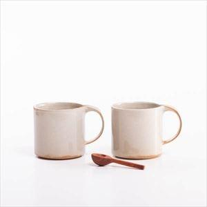 【セット】お茶を楽しむ モデラートマグ ペアと木の匙(小)のセット 化粧箱入