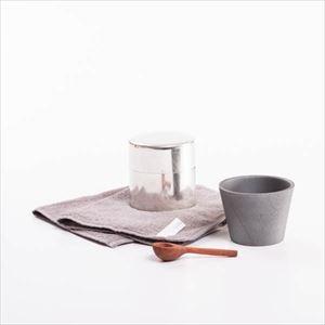 【セット】モノトーン雑貨を愛でる暮らし 丸缶と木匙(小)のセット 化粧箱入/SyuRo