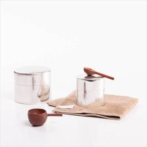 【セット】かわいい丸缶と木の匙 大小セット  ハンドタオル付 化粧箱入/SyuRo
