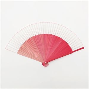 [Paulownia box] Gradation fan / Pink / Nishikawa Shouroku shouten