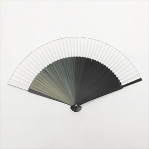 [Paulownia box] Gradation fan / Black / Nishikawa Shouroku shouten
