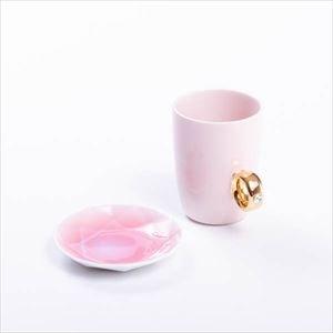 【セット】CUP RING & Arita Jewel ピンク&ピンク 化粧箱入/マグカップと豆皿/Floyd