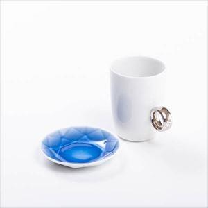 【セット】CUP RING & Arita Jewel ホワイト&ブルー 化粧箱入/マグカップと豆皿/Floyd