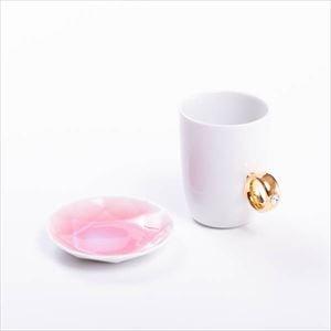 【セット】CUP RING & Arita Jewel ホワイト&ピンク 化粧箱入/マグカップと豆皿/Floyd