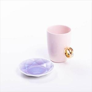 【セット】CUP RING & Arita Jewel ピンク&パープル 化粧箱入/マグカップと豆皿/Floyd