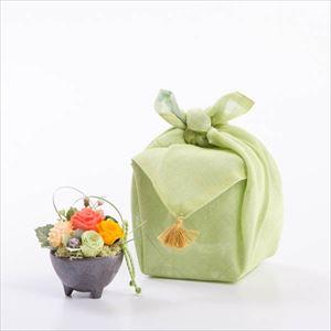 【セット】可愛いお花のふきん包 オレンジ/フラワーギフト