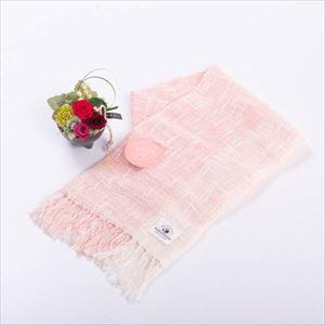 【セット】お花とカーネーション色のオーガニックストール 化粧箱入/フラワーギフト