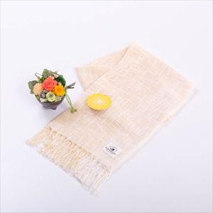 【セット】お花とヒマワリ色のオーガニックストール 化粧箱入/フラワーギフト