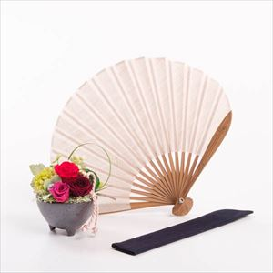 [Set] [Exclusive box] Flower & Fuwari fan / Flower gift / Red