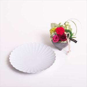 【セット】お花とパレスプレート レッド 化粧箱入/フラワーギフト