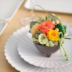 【セット】お花とパレスプレート オレンジ 化粧箱入/フラワーギフト_Image_2