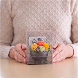 【セット】お花とパレスプレート オレンジ 化粧箱入/フラワーギフト_Image_4