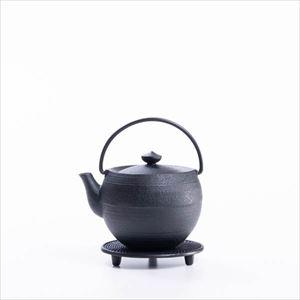 【セット】伝統工芸のコラボ ティーポットと釜敷セット 丸玉S 化粧箱入