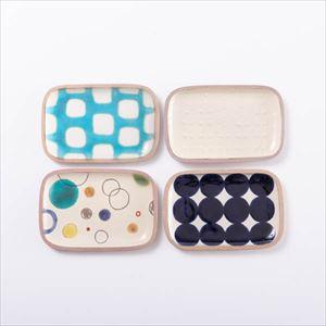 【セット】長方皿(小) 一翠窯の人気4点セット 化粧箱入/やちむん/一翠窯