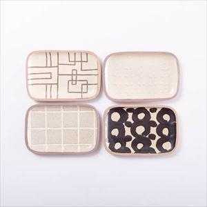 【セット】長方皿(小) バイヤーおすすめ4点セット 化粧箱入/やちむん/一翠窯
