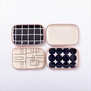 【セット】長方皿(小) ライターおすすめ4点セット 化粧箱入/やちむん/一翠窯