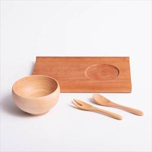 【セット】カフェ風木製お食い初めセット 化粧箱入