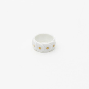【アウトレット】 Ring DRAKE RING NO.2(大) White/Gold Dots/2016 Saskia Diez 《商品入れ替え》