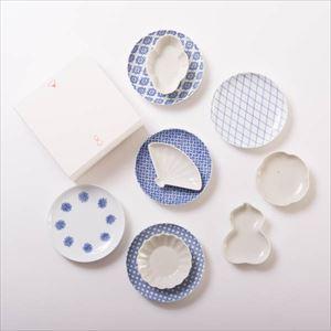 【セット】東屋コーデを楽しむ 小皿と豆皿の印判土灰MIXセット 化粧箱入