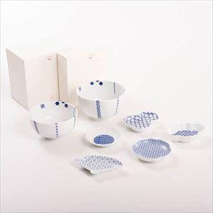 【セット】東屋コーデを楽しむ 印判豆皿と花茶碗セット 化粧箱入