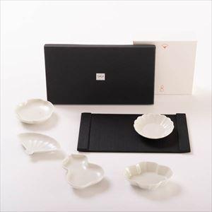 【セット】シックな夜に SUZURI長方皿と豆皿セット 化粧箱入