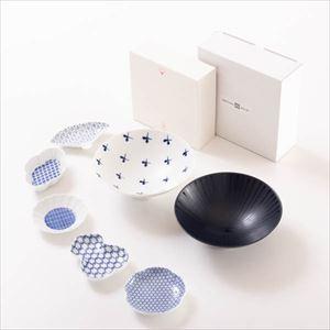 【セット】豆皿と平茶碗ペア スタイリッシュな北欧風セット 化粧箱入