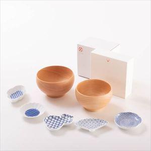 【セット】豆皿とめいぼく椀のほっこりお椀セット