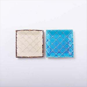【SALE】[Set of 2] [Exclusive box] Square pair / Icchin Blue & White / Yachimun / Issui pottery $54.99→$49.49 [Used in photo shooting]